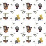 Plantas suculentas en modelo de los potes Foto de archivo libre de regalías