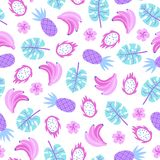 Plantas tropicales y frutas coloridas libre illustration