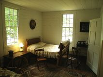 Plantation Bedroom. A bedroom in 19th century style, as would be found in a southern plantation in the United States royalty free stock photography