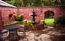 Plantation Courtyard royalty free stock photos