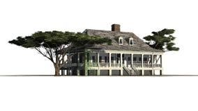 Plantation House with umbrella pine Stock Image