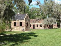 Plantation Slave Cabins Stock Image
