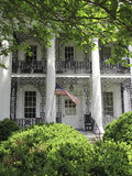 Plantation style house. An example of a white plantation style house Stock Photography