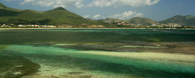 Plantation Vista de noix de coco de rue Maarten Photos libres de droits