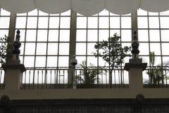 Plantatorzy okno, Casa De Los Azulejos, CDMX by? nadmierna i przychodzi? Pionowo format obraz stock