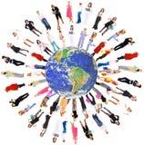 planète de gens de la terre Photo stock