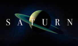 Planète de Saturn avec des anneaux Vue de l'espace Photos libres de droits