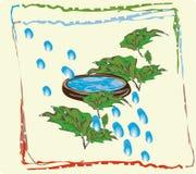 Plante o mundo a água na embarcação 1 ilustração stock