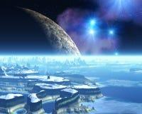 planète étrangère de glace Photos stock
