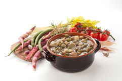 Planten- soep Royalty-vrije Stock Foto's