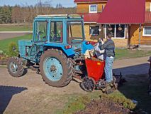 Planter 2 van de aardappel Royalty-vrije Stock Foto