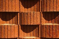 Planter blocks retaining wall. Background, texture. Concrete planter blocks as retaining wall. Background or texture stock photo