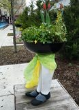 A Planter With Legs Royalty Free Stock Photography