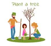 Plantera en tree vektor illustrationer
