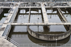 planterar behandlingwastewater Royaltyfria Foton
