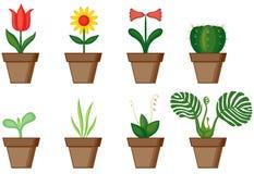 planterar fönstret royaltyfri illustrationer