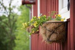Planters op een schuur in Loodglans, Illinois Stock Fotografie