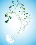 Plantes sur le bleu Illustration Stock