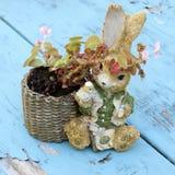 Planteur de lapin de Pâques Photo stock