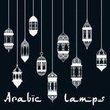 Plantilla árabe del diseño de la linterna de Ramadan Kareem