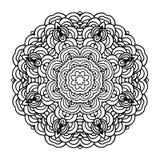 Plantilla árabe dibujada mano de la mandala para el diseño Fotos de archivo