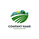 Plantilla única del logotipo de la agricultura Foto de archivo