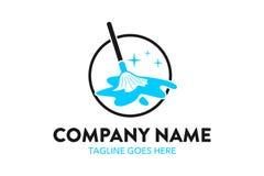 Plantilla única del logotipo del servicio de la limpieza y de mantenimiento libre illustration