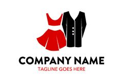 Plantilla única y original del logotipo de la moda y del boutique stock de ilustración