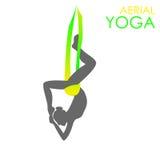 Plantilla aérea del logotipo de la yoga Yoga antigravedad Fotos de archivo
