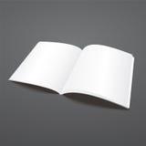 Plantilla abierta de la revista del vector en blanco ilustración del vector