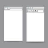 Plantilla abierta de las ventanas de navegador Fotos de archivo