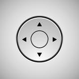 Plantilla abstracta blanca del botón de la palanca de mando Imagen de archivo libre de regalías