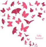 Plantilla abstracta con las mariposas para la moda y la postal ilustración del vector
