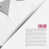Plantilla abstracta de la presentación para el negocio | Fondo del vector Imagen de archivo