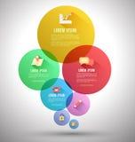 Plantilla abstracta de las opciones del infographics del negocio stock de ilustración