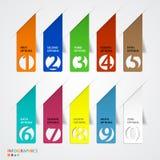 Plantilla abstracta de las opciones del número del infographics. stock de ilustración