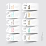 Plantilla abstracta de las opciones del número del infographics.