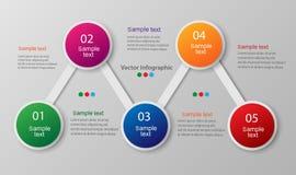 Plantilla abstracta de las opciones del número del infographics ilustración del vector