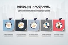 Plantilla abstracta de las opciones del número del infographics Illustrati del vector Fotografía de archivo