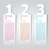 Plantilla abstracta de las opciones del número del infographics Ilustración del vector puede ser utilizado para la disposición de Foto de archivo libre de regalías