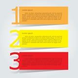 Plantilla abstracta de las opciones del número del infographics Ilustración del vector puede ser utilizado para la disposición de Imagen de archivo libre de regalías