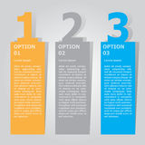 Plantilla abstracta de las opciones del número del infographics Ilustración del vector puede ser utilizado para la disposición de Fotografía de archivo
