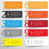 Plantilla abstracta de las opciones del número del infographics Ilustración del vector puede ser utilizado para la disposición de Imagenes de archivo