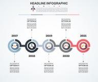 Plantilla abstracta de las opciones del número del infographics Vector Fotos de archivo libres de regalías