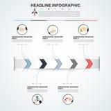 Plantilla abstracta de las opciones del número del infographics Vector Imágenes de archivo libres de regalías