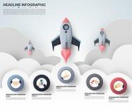 Plantilla abstracta de las opciones del número del infographics Illustrati del vector Imagenes de archivo