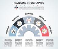 Plantilla abstracta de las opciones del número del infographics Illustrati del vector Fotografía de archivo libre de regalías