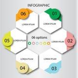 Plantilla abstracta de las opciones del número del infographics Ilustración del vector puede ser utilizado para la disposición de Fotografía de archivo libre de regalías