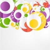 Plantilla abstracta de los círculos del vector Web del objeto Fotografía de archivo