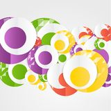Plantilla abstracta de los círculos del vector Web del objeto Foto de archivo